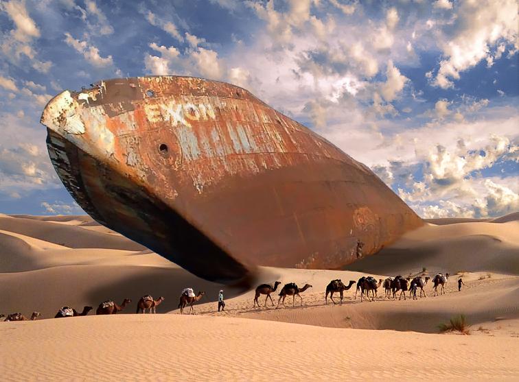 Exxon_desert_tanker wikicommons image